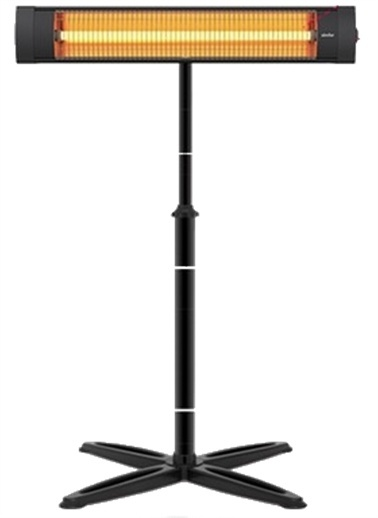 Simfer Simfer Blackline 2500W Infrared Isıtıcı Elektrikli Soba Isıtıcı Devrilme Emniyetli Siyah